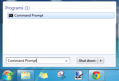 Screencap showing Command Prompt